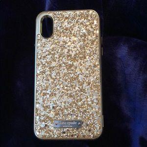 Kate spade glitter case IPHONE X/ Xs